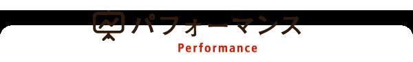 パフォーマンス performance